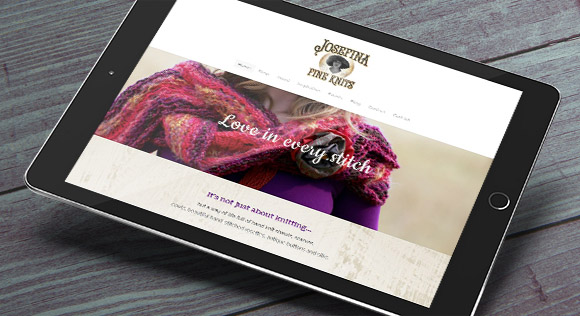 Josefina FineKnits ipad website design