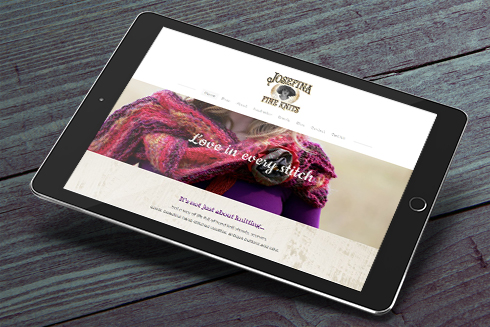 Josefina Fine Knits site on ipad