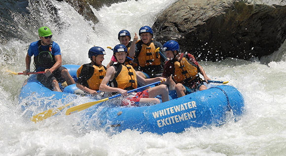 Whitewater Excitement rafting website design