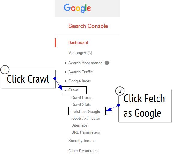 fetch as google menu