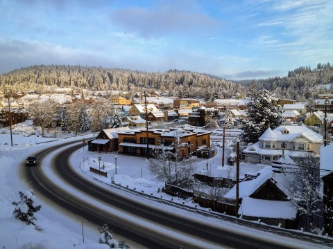 Downtown Truckee from Hilltop