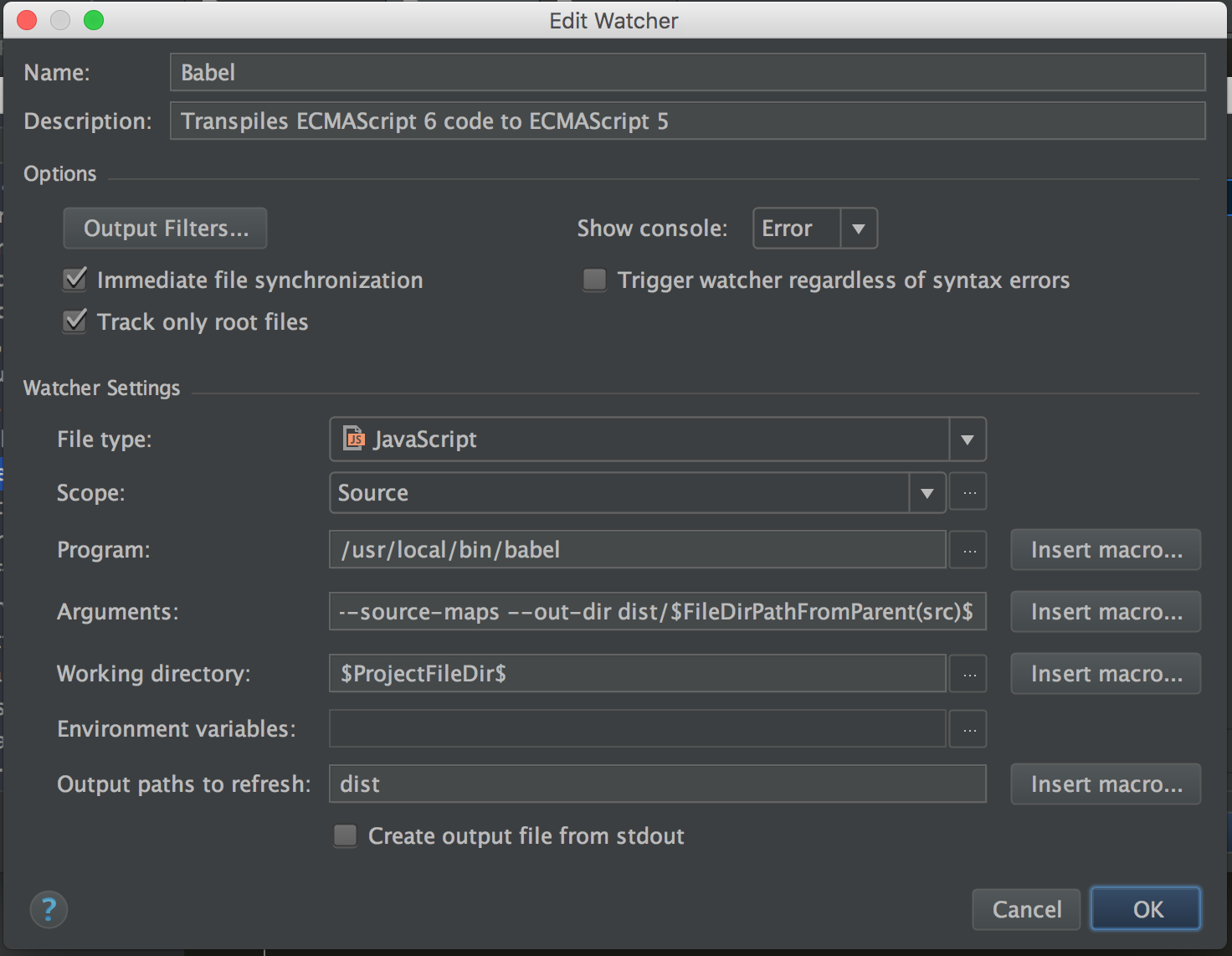 How To Set Up the Babel 6 Plugin in WebStorm