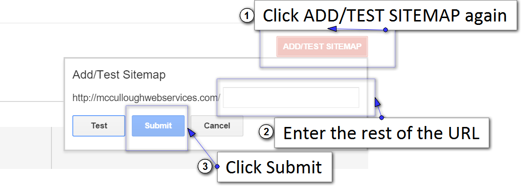 GSC add sitemap and submit
