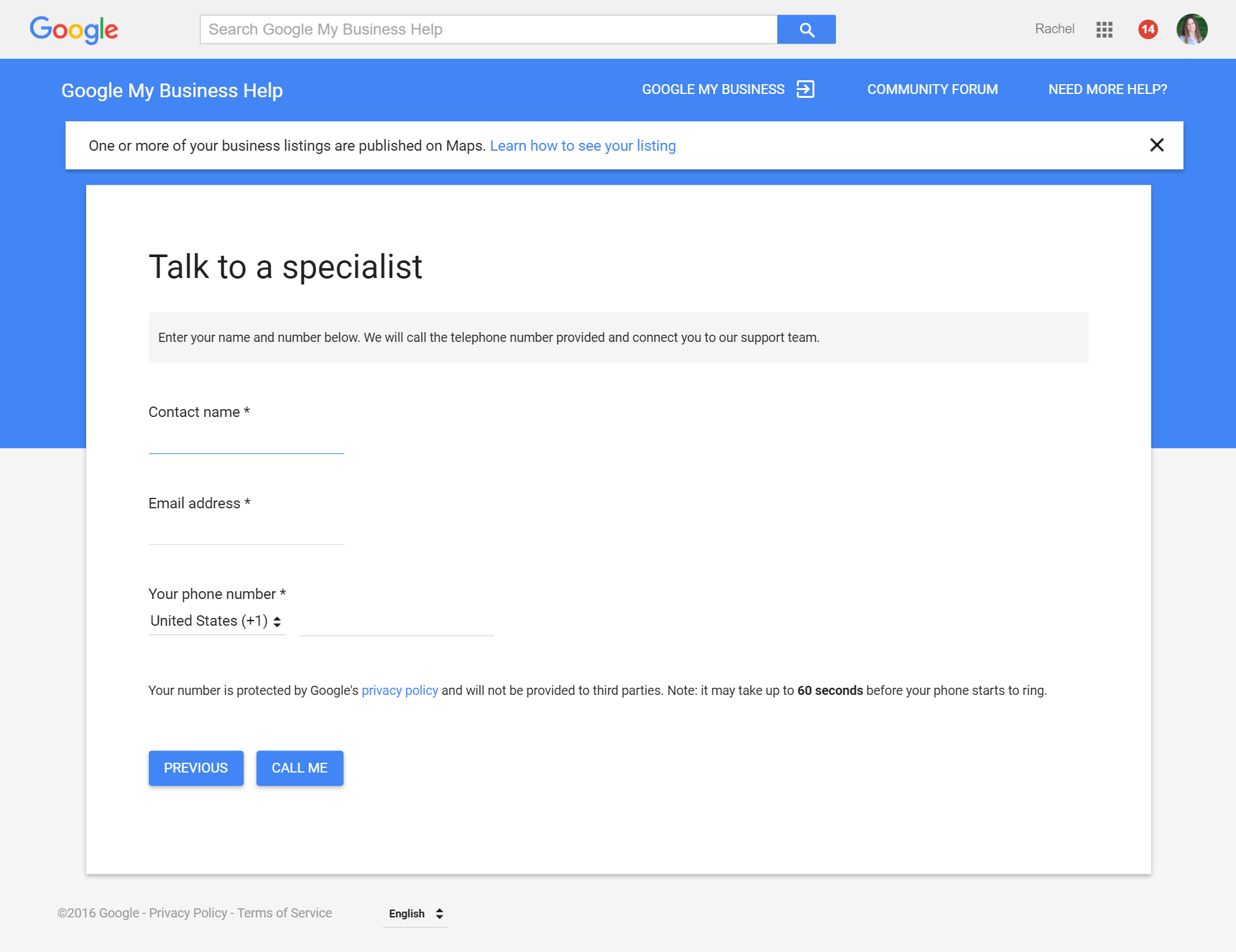 Get phone support for google my business listings mccullough web