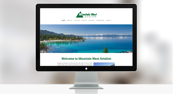 mountain west aviation lake tahoe weebly website design