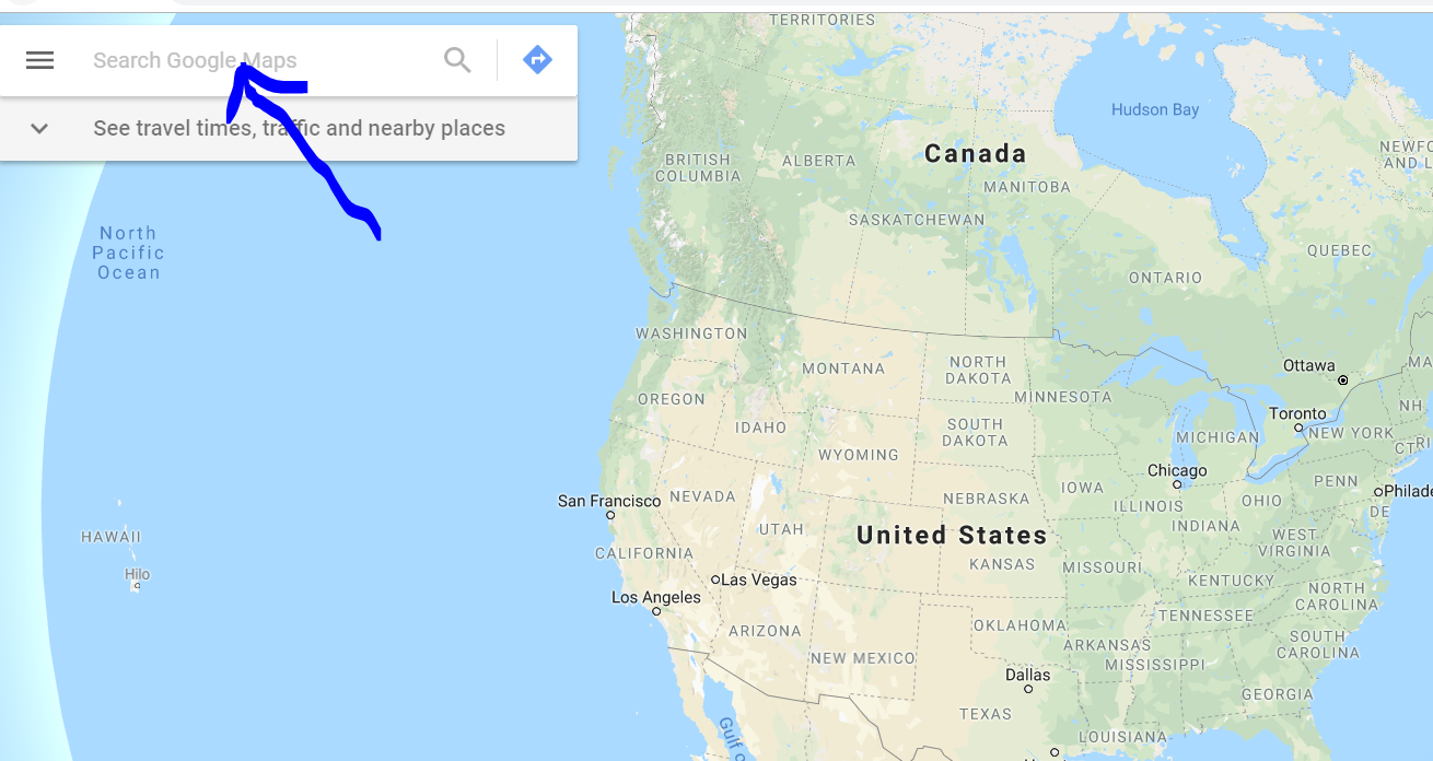searching for your business on google maps