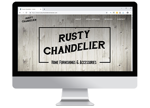 Rusty Chandelier website design