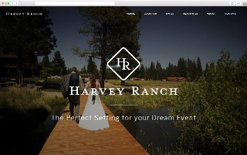 Harvey Ranch homepage website design