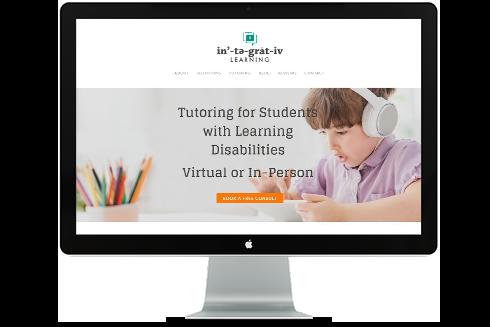 Integrative learning website on desktop screen