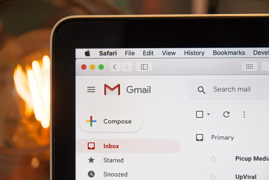 web browser open to unsolicited email