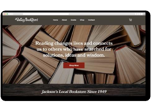 Valley Bookstore ecommerce website