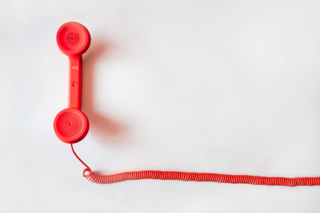 old style telephone with cord