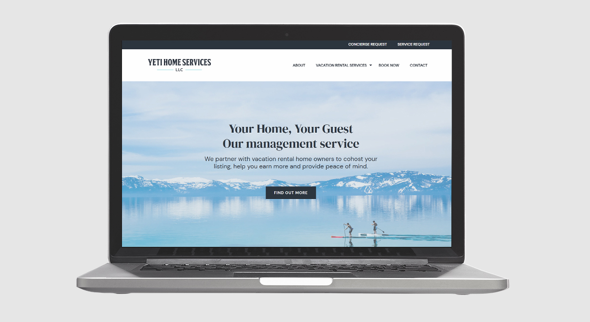 yeti home services in truckee website homepage